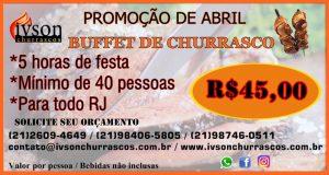 Promoção churrasco Abril